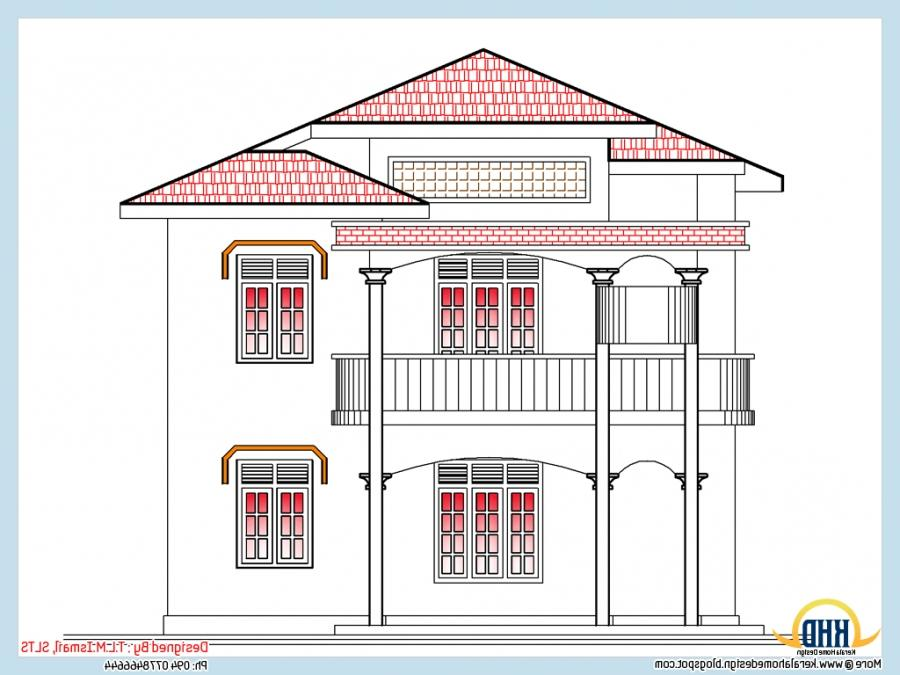 Front elevation view of 2318 Sq. Ft. house - May 2012