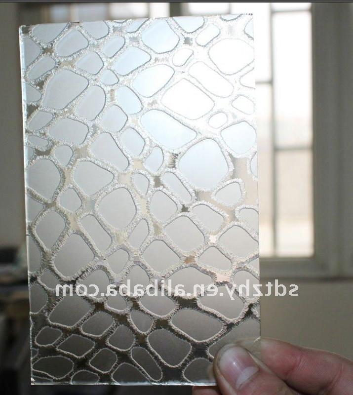 ISO90001  CE tempered deep etched glass