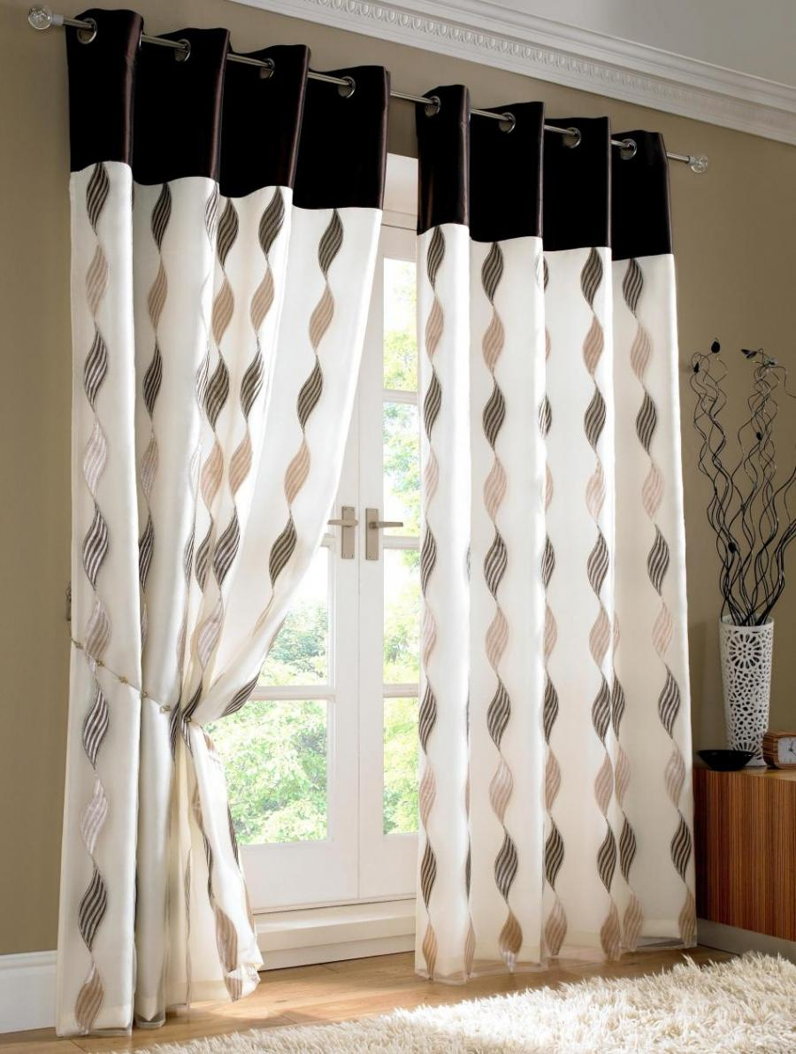 living room, Curtain Designs With Pictures With Cream Color...
