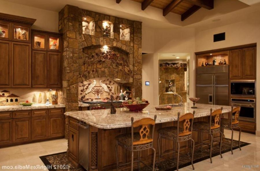 Tuscan home interior photos for Tuscan kitchen designs photo gallery