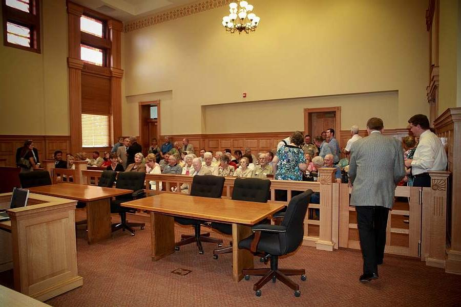 Courtroom Dedication. South wall.