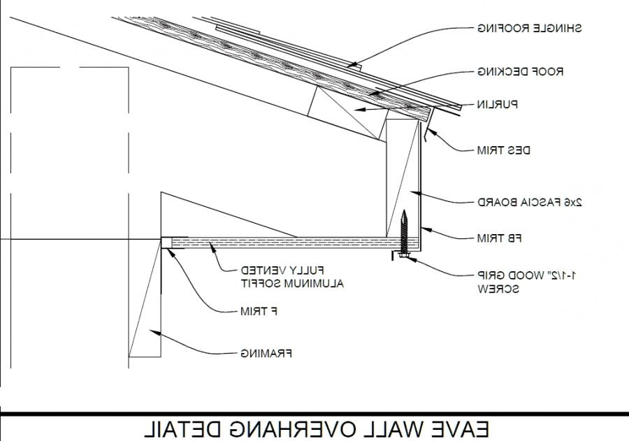 Eave Metal Roof Installation : Photo of roof eave