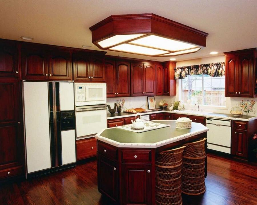 how to decorate your own kitchen home with brown darken wood...