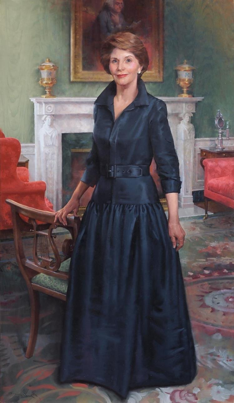 The Official White House Portrait of First Lady Laura Bush, 2012....