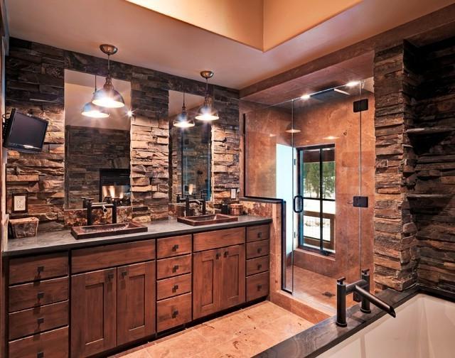 rustic bathrooms photos Vintage Bathroom Designs Cottage Bathroom Designs