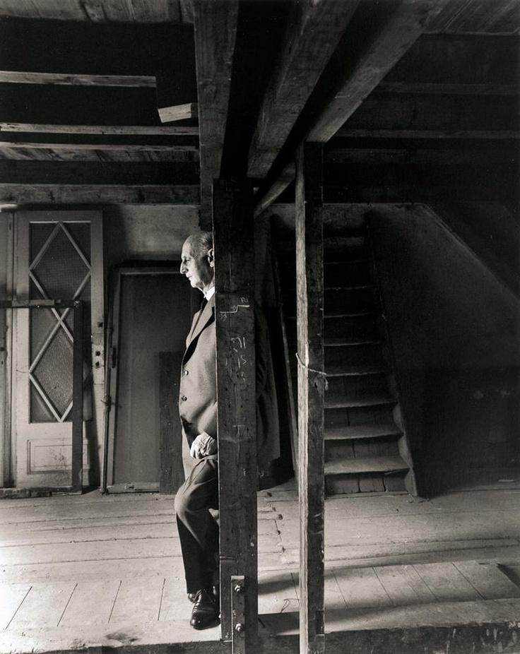 Otto Frank in the attic of the Secret Annex. This photo was made...