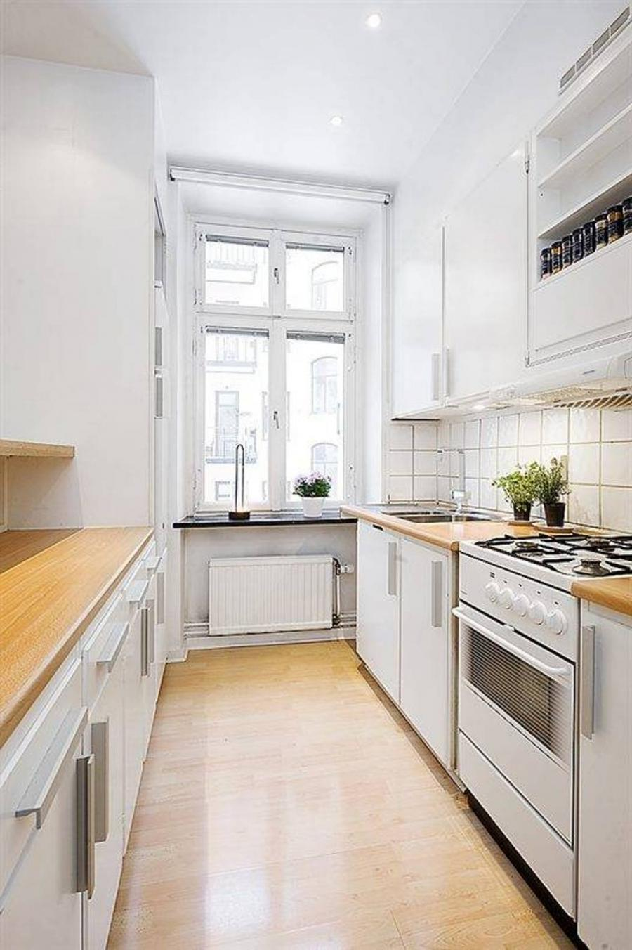 Photos of white galley kitchens for Small white galley kitchens