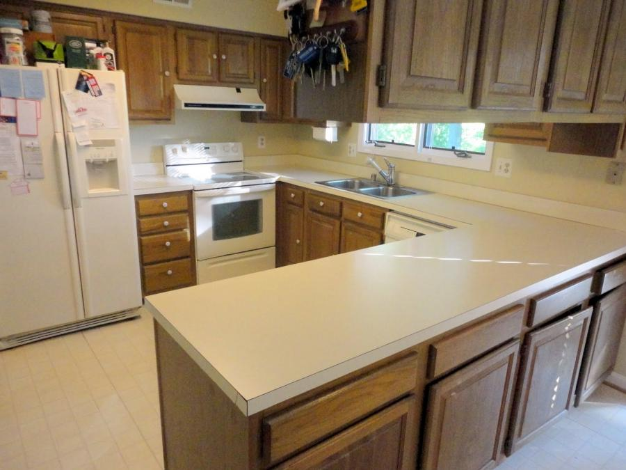 photos of kitchens with corian countertops