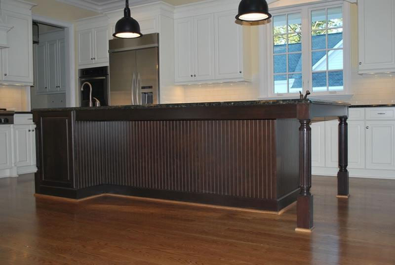 Beadboard Kitchen Island Photos
