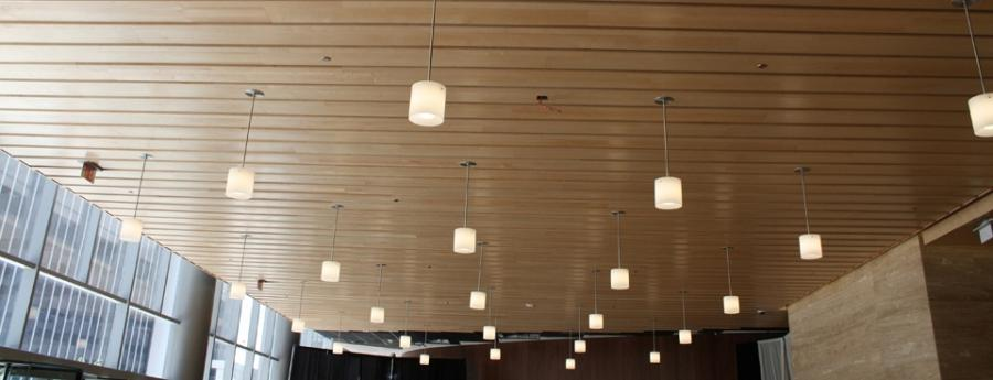 ... Linwood II Linear Wood Ceiling Maple Clear Finish ...