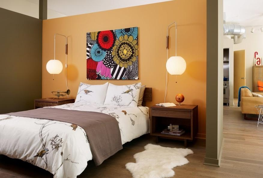 Pretty Decoration For Natural Tangerine Bedroom Decor