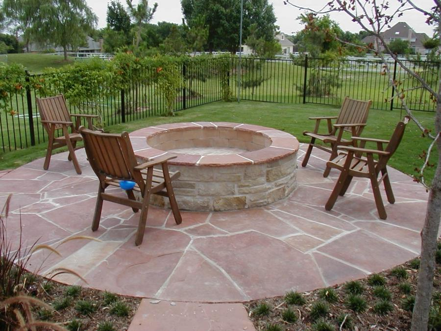 Outdoor Stone Fire Pit Kits