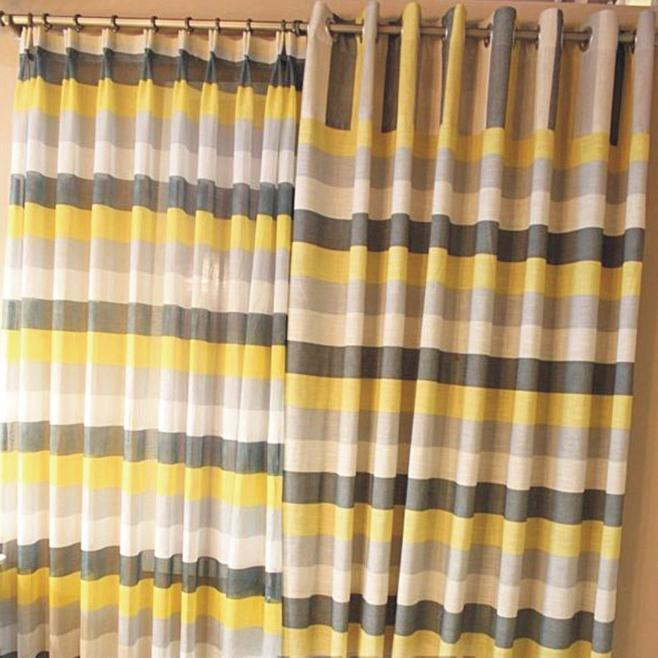 Curtains  Kids Curtains  Multi Color Striped Linen Blackout...