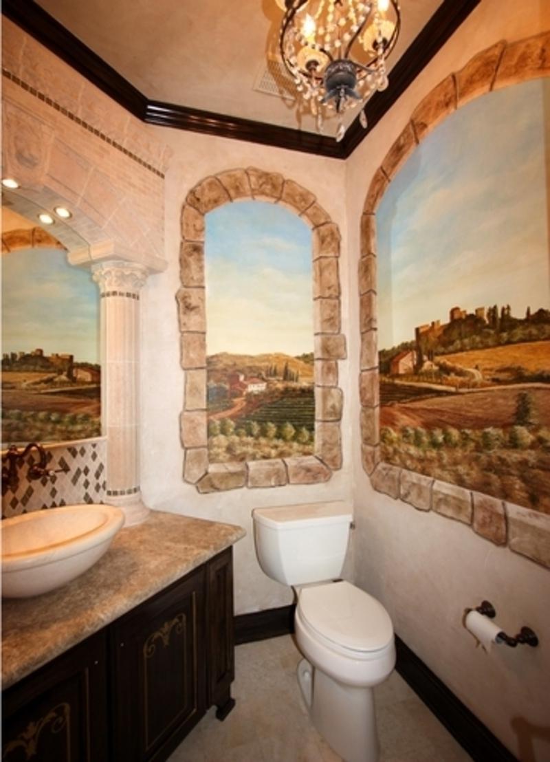 Tuscan Themed Bathroom Photos