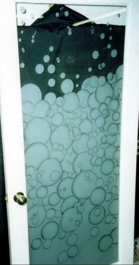 ... Etched Glass Door Bubbles ...
