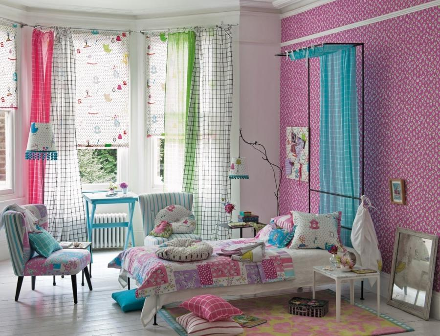 Decorations Lovely Girl Bedroom Spring Decoration With Colorful...