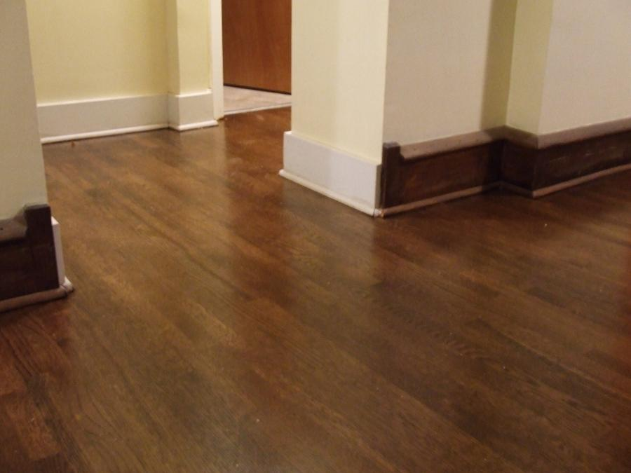 A great example of a hardwood floor refinish and stain. If you...