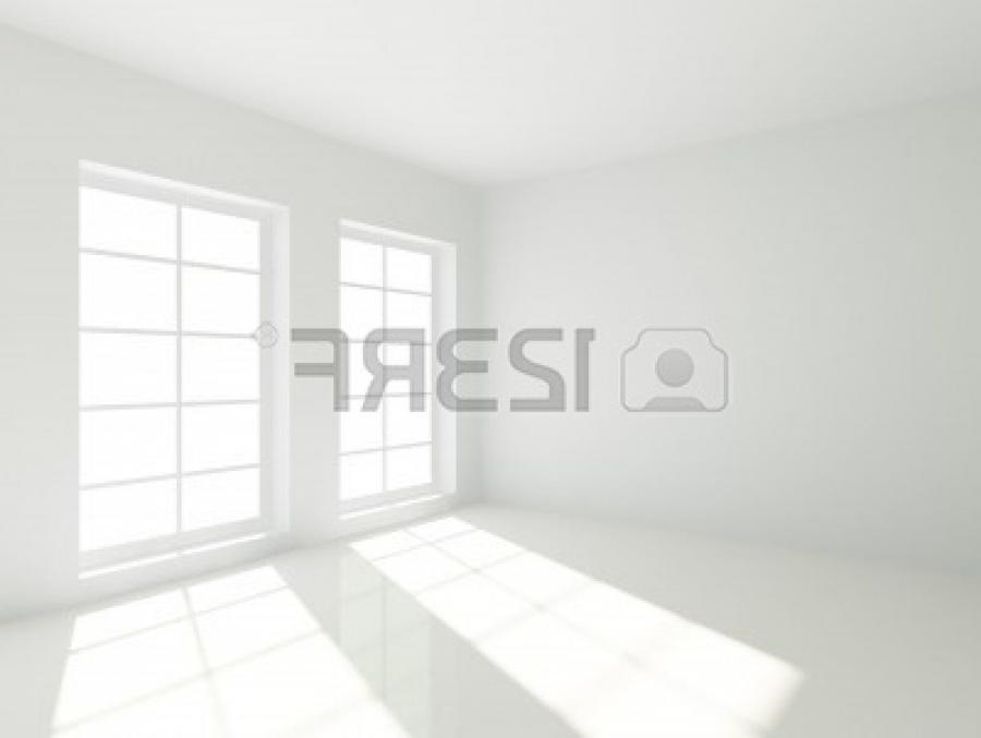 3d Empty White Room with Windows
