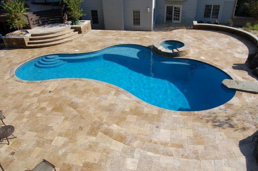 Travertine Pool Tile Photos