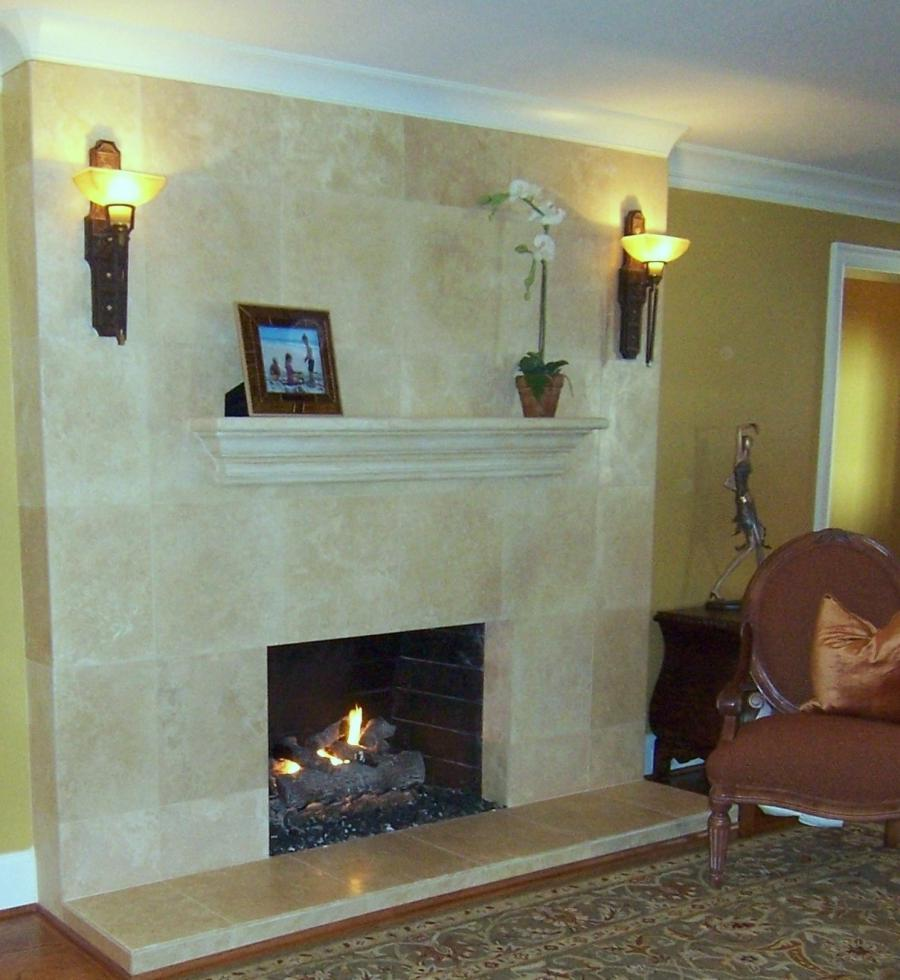 photos of refaced fireplaces