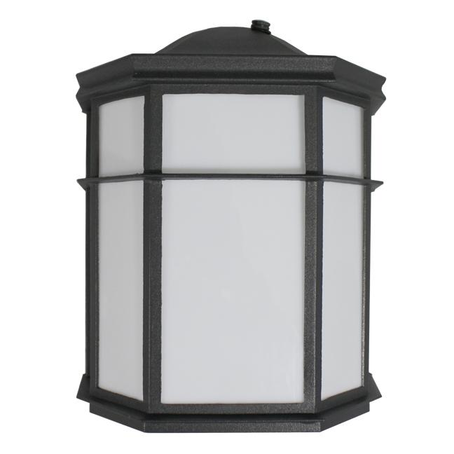 OUTDOOR PORCH LIGHT - LED 6W BLACK w/ Photocell