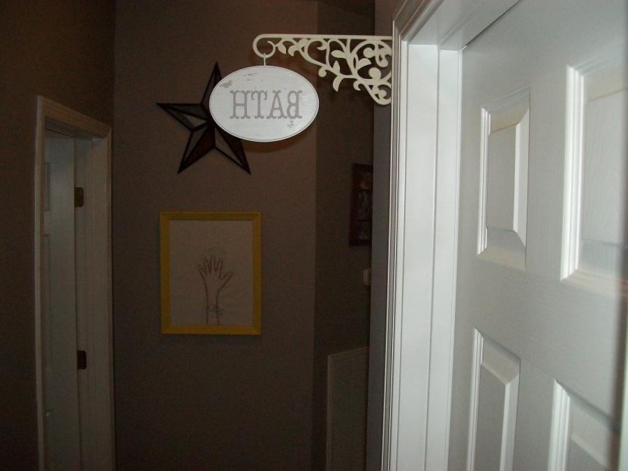 Now I have a sign hanging right over the doorway into the...