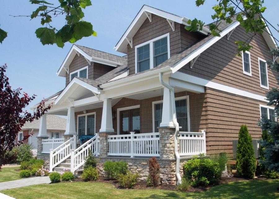Craftsman style porch photos for Craftsman home builders houston