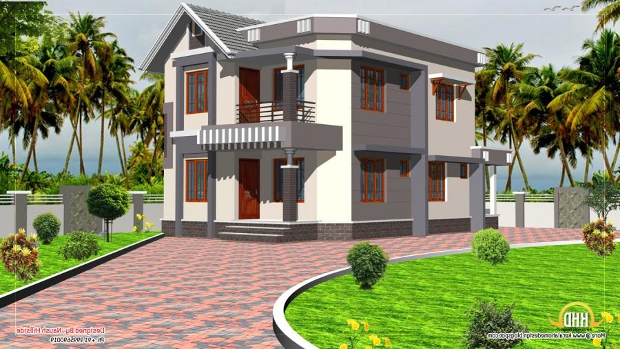 Duplex House Elevation - 1592 Sq. Ft. - Kerala home design and ...