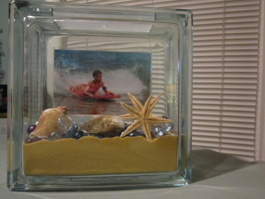 photo frame glass block
