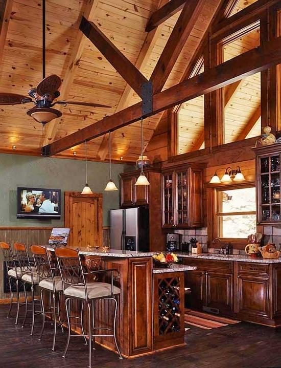Log Home Kitchen Photos