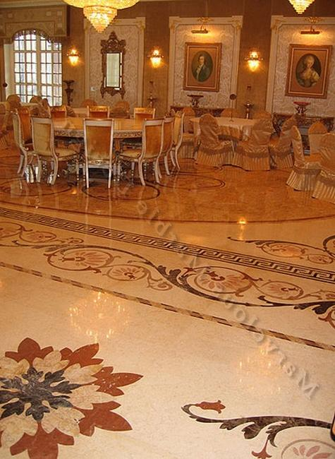 When designed and chosen well, custom marble flooring gives a...