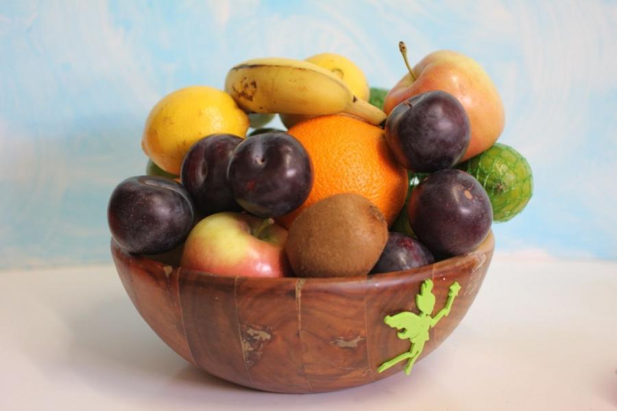 In my kitchen is a bowl of fruit. It demonstrates the change of...