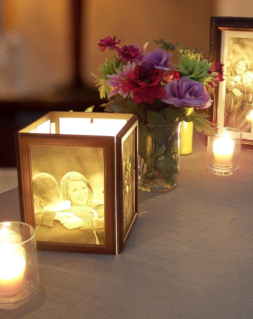 Candle photo frames