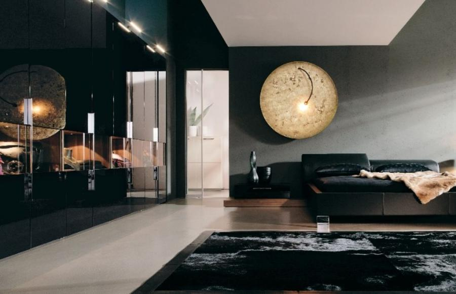 Exclusive Classic Black Bedroom Idea With Minimalist Leather...