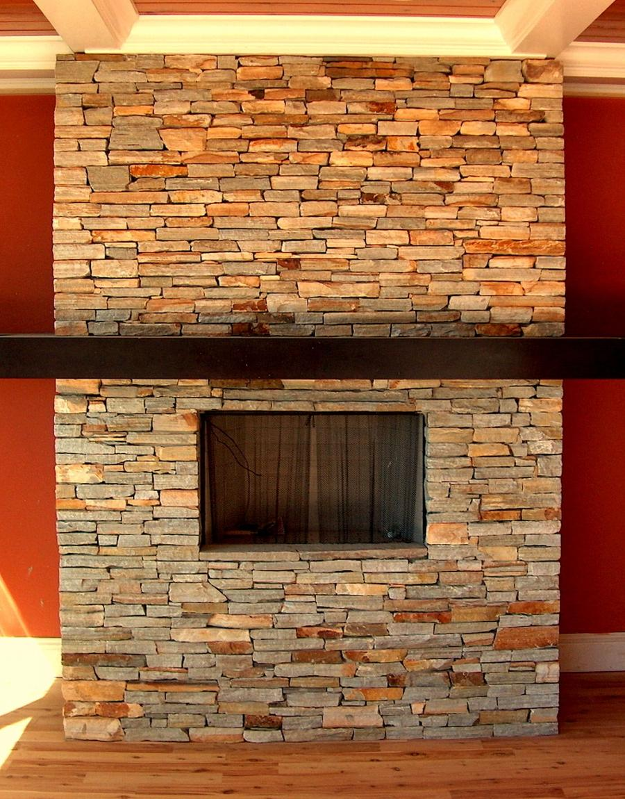 Interior Astonishing Natural Stone Fireplace Colors Fascinating...