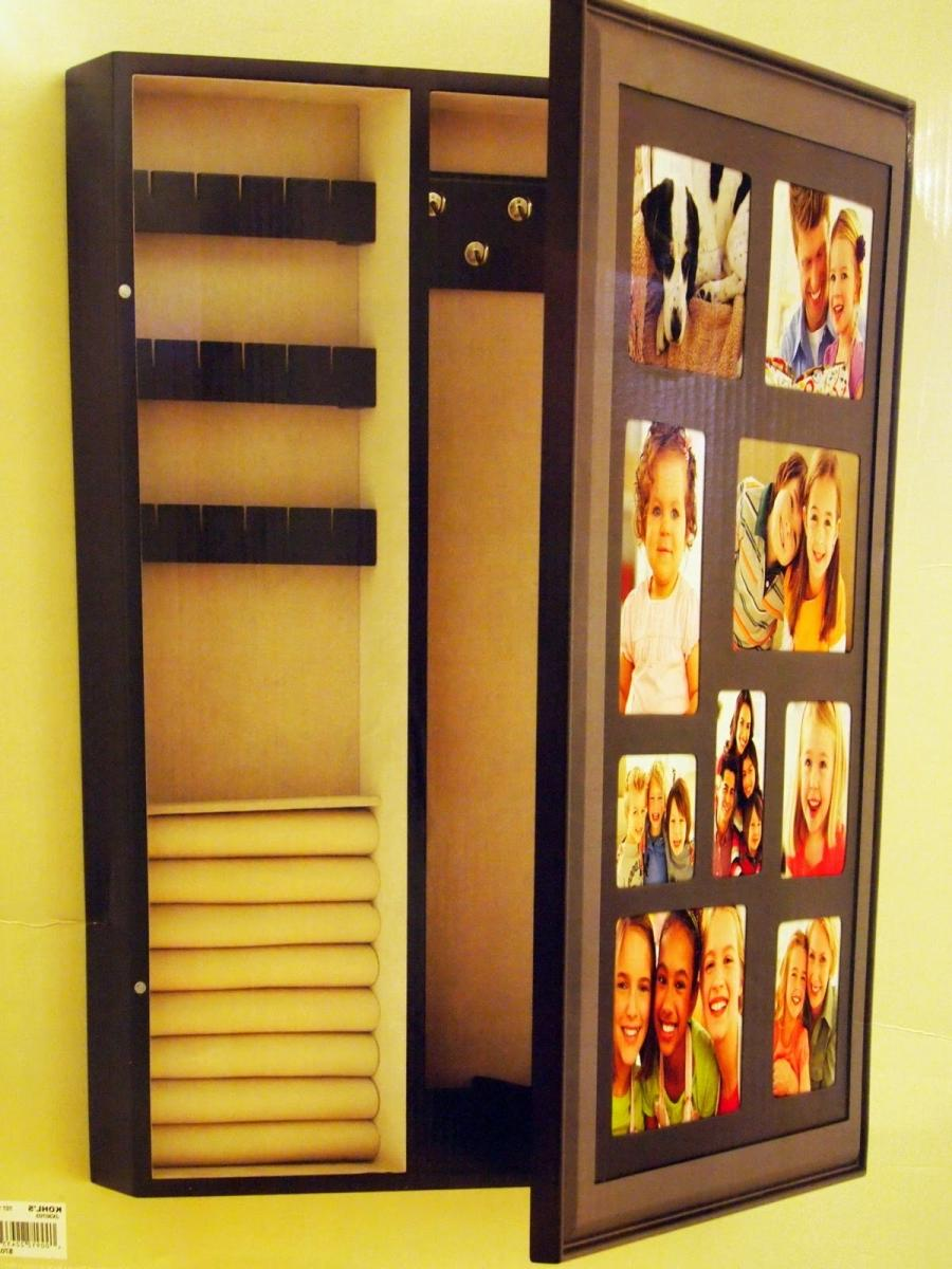 Wall Hanging Photo Jewelry Cabinet