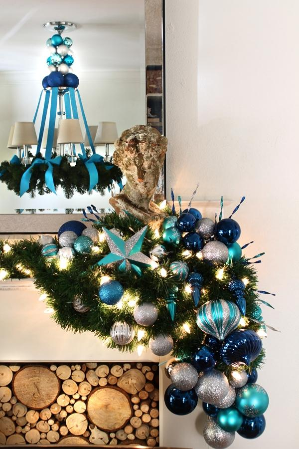 decorating chandeliers for christmas photos