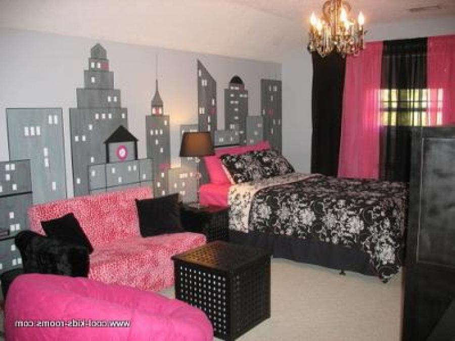 Pink black bedroom photos for Black and pink wallpaper for bedroom