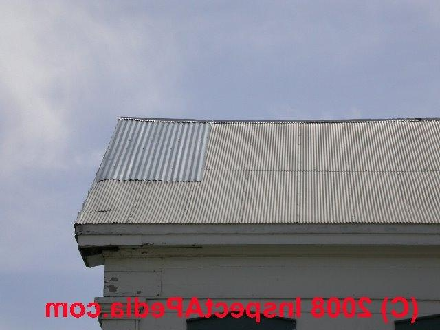 Corrugated iron roof photos for Roof covering materials