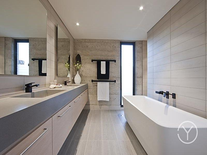 Modern bathroom design with spa bath using ceramic - Bathroom...