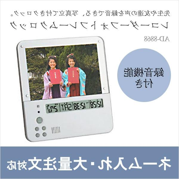 Voice recording alarm clock photo frame