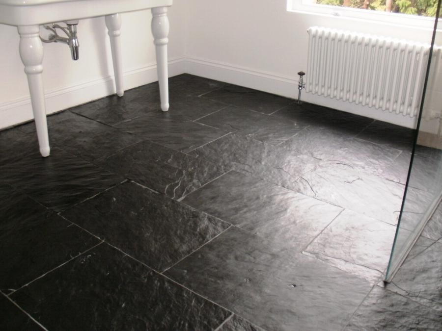 Floor photo slate for Slate wet room
