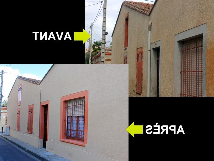 photo renovation facade maison. Black Bedroom Furniture Sets. Home Design Ideas