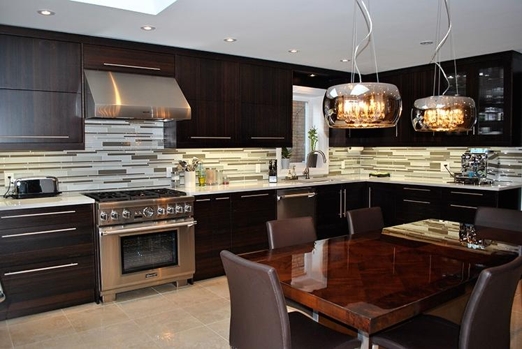 Modern Kitchen Burnt Bamboo