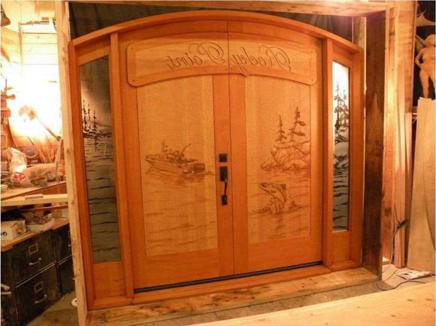 Hand Carved Entry Door ...