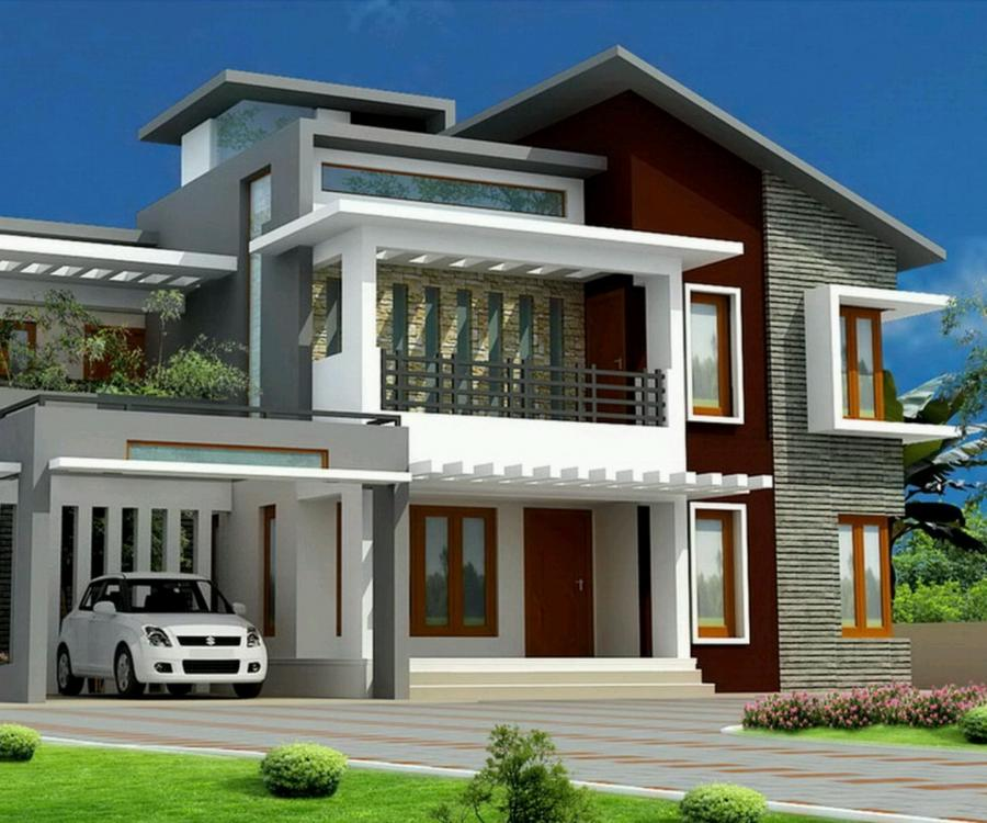 Home Design Exterior Ideas In India: Modern Bungalow House Photos
