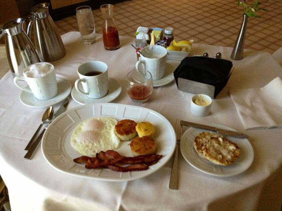 room service breakfast, in bed, while watching u0026quot;The...