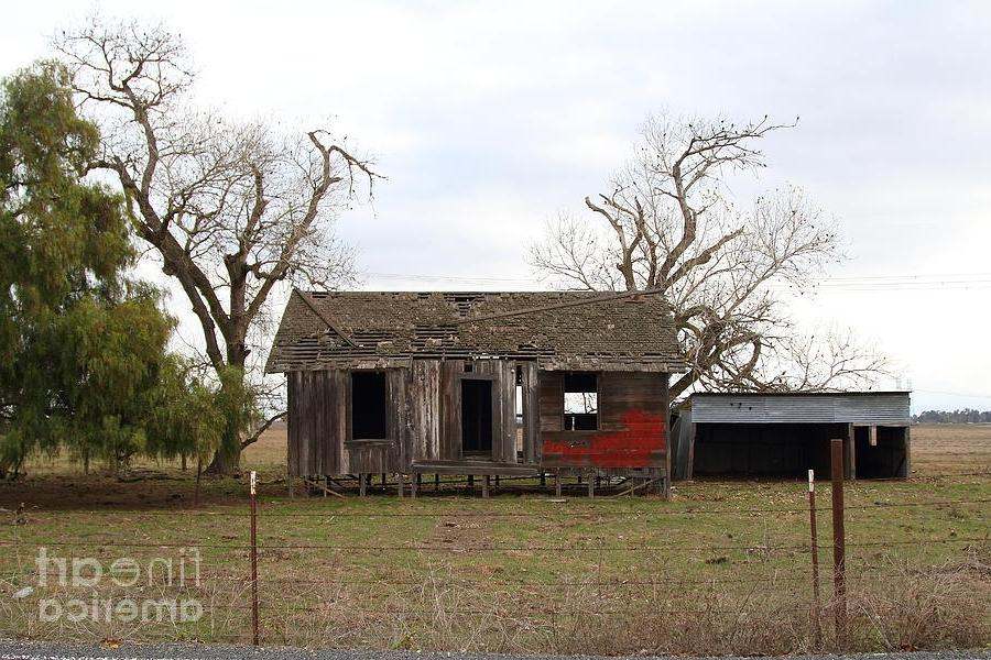 Old Farm House Framed Prints - Dilapidated Old Farm House ....