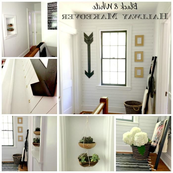 Hallway Makeover collage