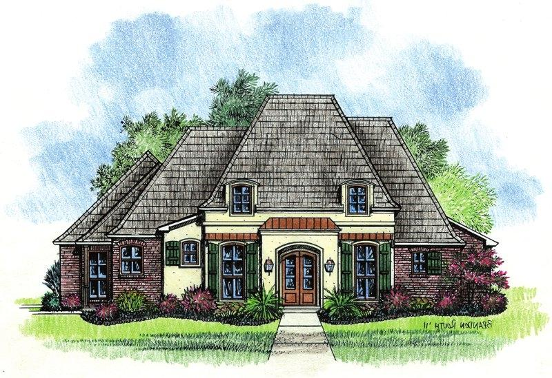 French country house plans with photos for Louisiana french country house plans